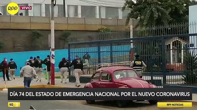 RPP Noticias captó el preciso momento en el que los representantes de la Policía y la Fiscalía ingresan a la sede edil.