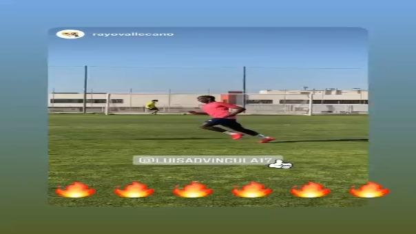 Luis Advíncula anotó un gol en los entrenamientos de Rayo Vallecano.