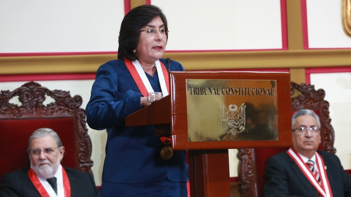 Marianella Ledesma, presidenta del TC.