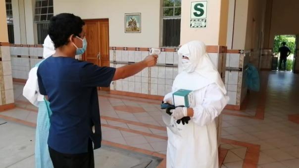 Los ancianos, las monjas y personal administrativo fueron aislados para evitar la propagación del nuevo coronavirus.