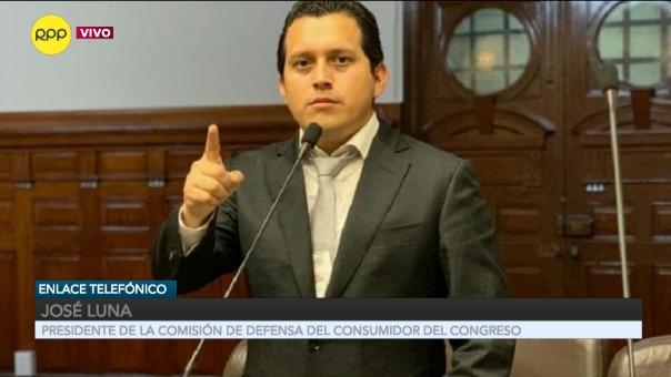 José Luna, presidente de la Comisión de Defensa del Consumidor del Congreso.