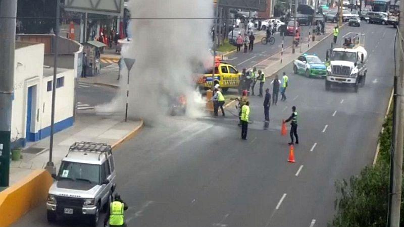 El fuego fue controlado por agentes del Serenazgo y de la Brigada de Rescate de Surco.