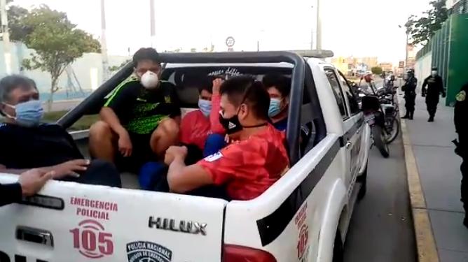 Intervenidos fueron trasladados hasta la comisaría de José Leonardo Ortiz