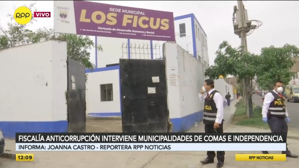 Fiscalía interviene municipalidades de dos distritos.