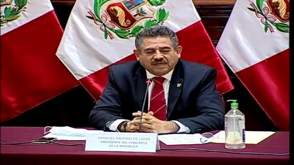 Manuel Merino, titular del Legislativo.