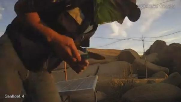 Las cámaras de videovigilancia captaron a tres hombres autores del robo.