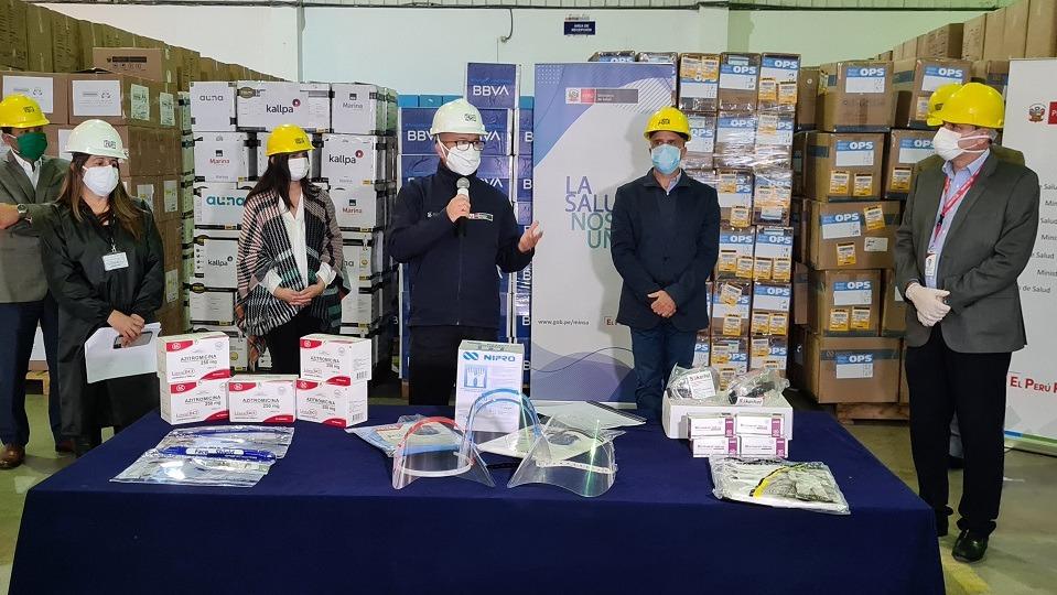 Donación al Minsa fue hecha por varias empresas.