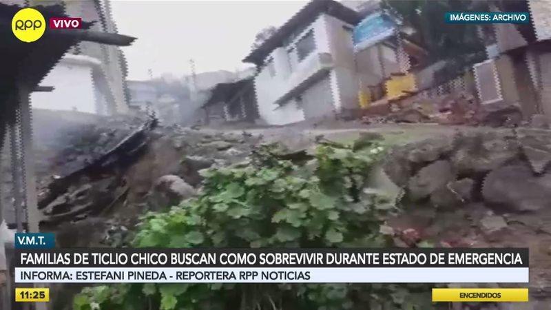 Las casas en Ticlio Chico, en su mayoría, no son de material noble, por lo que no protegen a sus habitantes del frío.