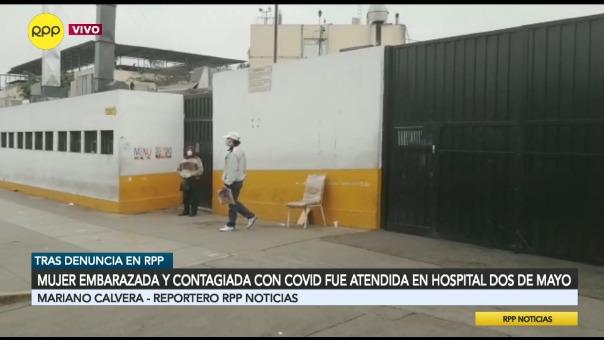 Mujer embarazada y contagiada con COVID-19 fue atendida en el Hospital Dos de Mayo