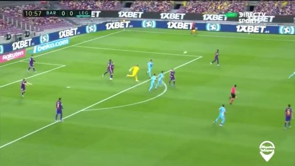 Así fue la entrada de Lenglet para salvar la portería del Barcelona