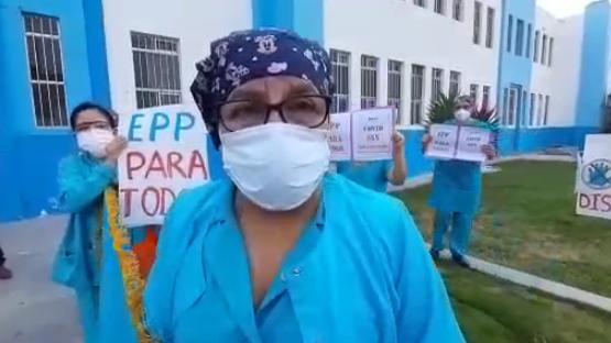 Secretaría General del Sindicato de Enfermeras del Hospital Almanzor Aguinaga, Indira Puicán
