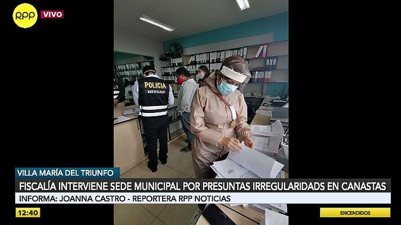 Cuatro fiscales realizan la intervención de la sede municipal.