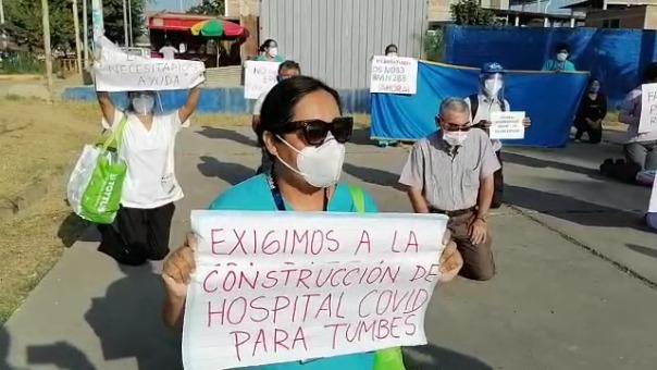 La enfermera Martha Rumiche solicitó, a nombre de todos los trabajadores, que la Presidenta Ejecutiva de EsSalud brinde apoyo al hospital de Tumbes.