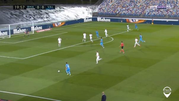 Gol anulado de Valencia.