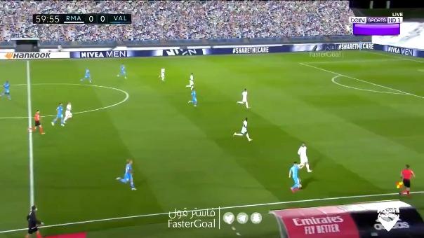 Así fue el gol de Karim Benzema tras pase de Eden Hazard.