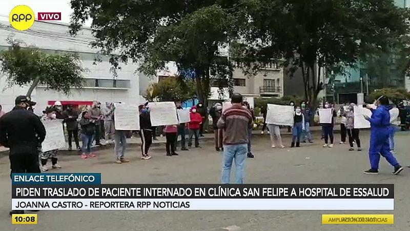 Los familiares y amigos del paciente piden que sea trasladado a un hospital de EsSalud.