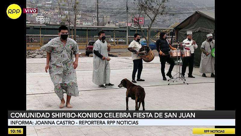 Así se vivió la Fiesta de San Juan en la comunidad Shipibo-konibo de Cantagallo.