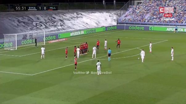 Así fue gol de Sergio Ramos al Mallorca.