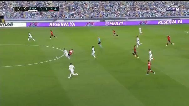Así fue el gol que Vinicius Junior le marcó al Mallorca.
