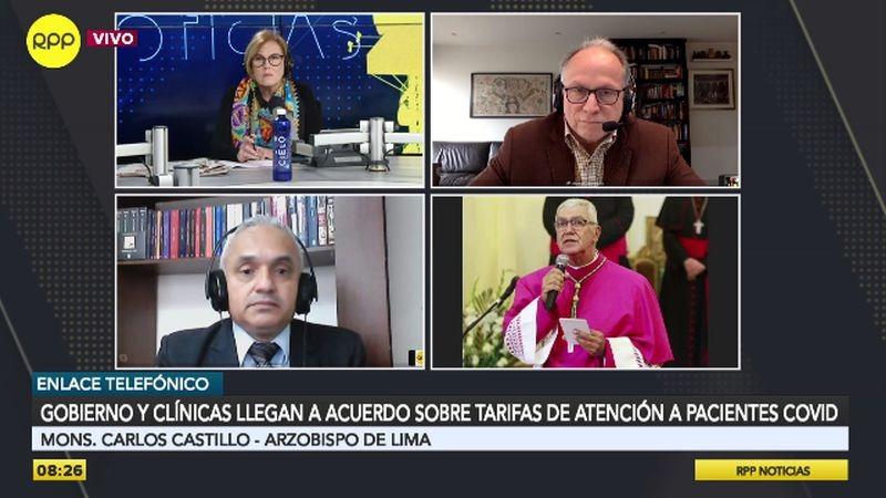 El monseñor Carlos Castillo estuvo esta mañana en Ampliación de Noticias.