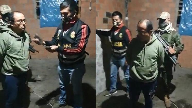 Gregorio Santos fue capturado dentro de una vivienda que había alquilado en el Pueblo Joven Trancayacu, en el distrito y provincia de Rioja.