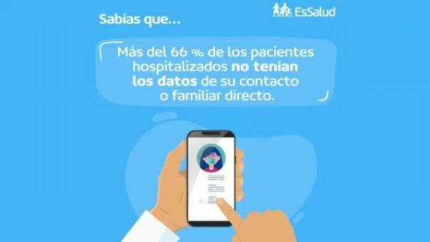 EsSalud lanzó campaña para mejorar la comunicación con familiares de pacientes COVID-19.