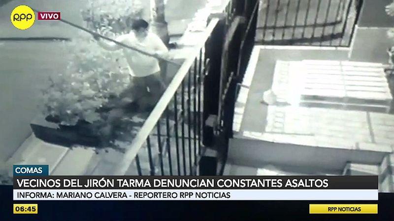 Cámaras de seguridad captaron los robos de los zapatos.