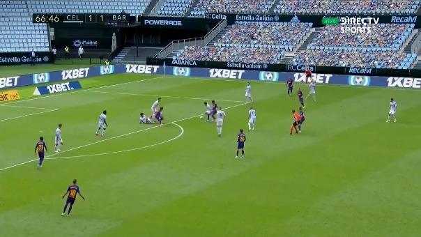 Luis Suárez tras asistencia de Lionel Messi marcó el segundo gol del Barcelona