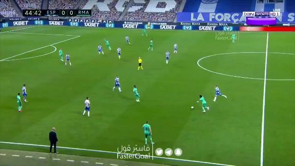Real Madrid 1-0 Espanyol.