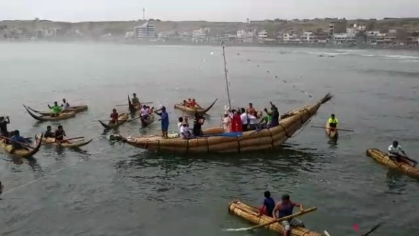 Así era la procesión de la imagen de San Pedro que se realizaba todos los años en Huanchaco. Este año se suspendió a causa de la COVID-19.