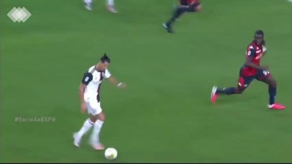 Cristiano Ronaldo anotó un golazo en la Juventus ante Genoa por 3-1