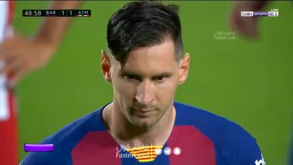 Así fue el gol de Messi al Atlético de Madrid.