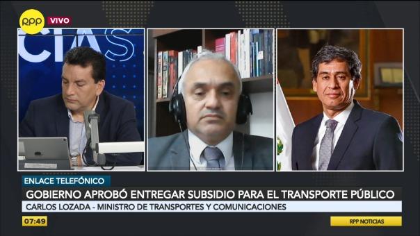 Carlos Lozada, ministro de Transportes y Comunicaciones.