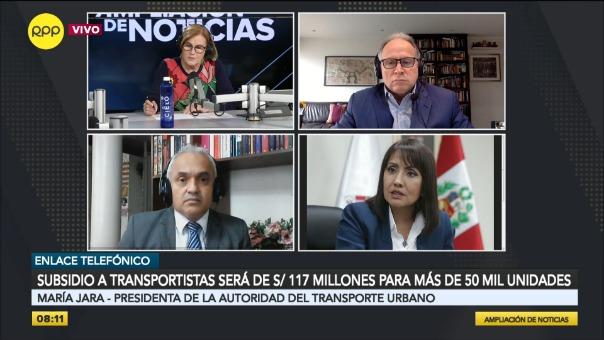 María Jara, presidenta de la Autoridad del Transporte Urbano.