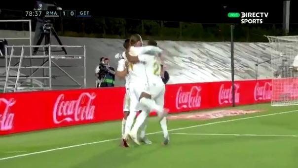 Sergio Ramos anotó el gol de la victoria del Real Madrid sobre Getafe
