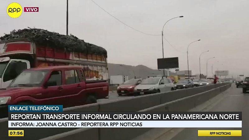 La presencia de estos vehículos menores provoca más congestión en la Panamericana Norte.