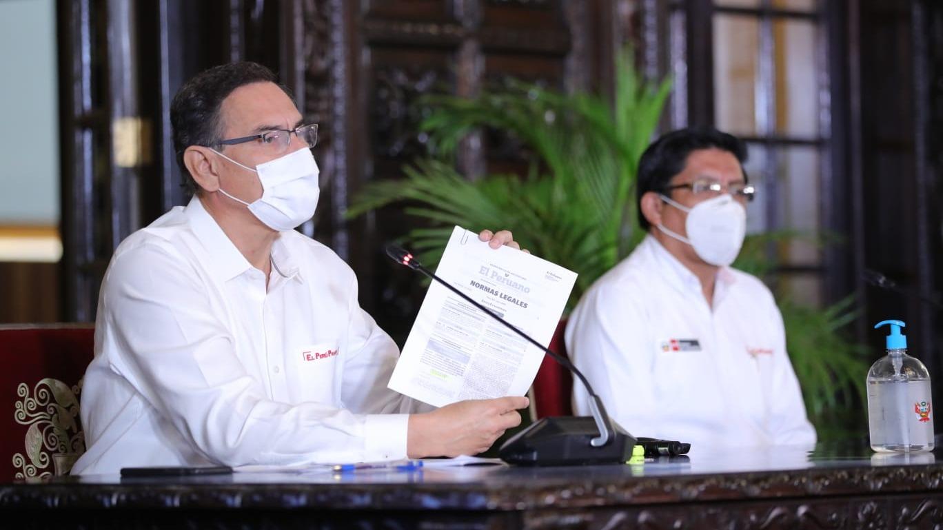 El presidente supervisó la implementación del hospital temporal COVID en SJL.