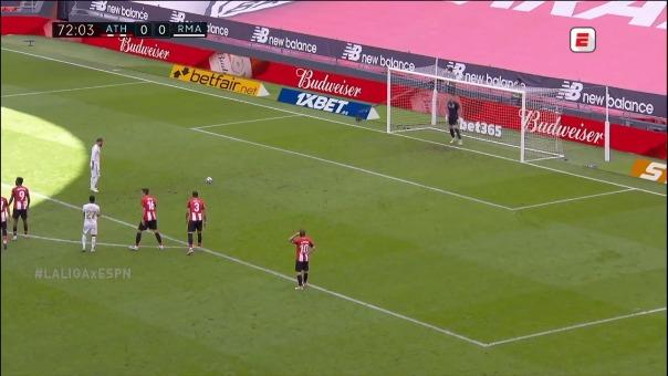 Sergio Ramos y su penal ante Athletic Club
