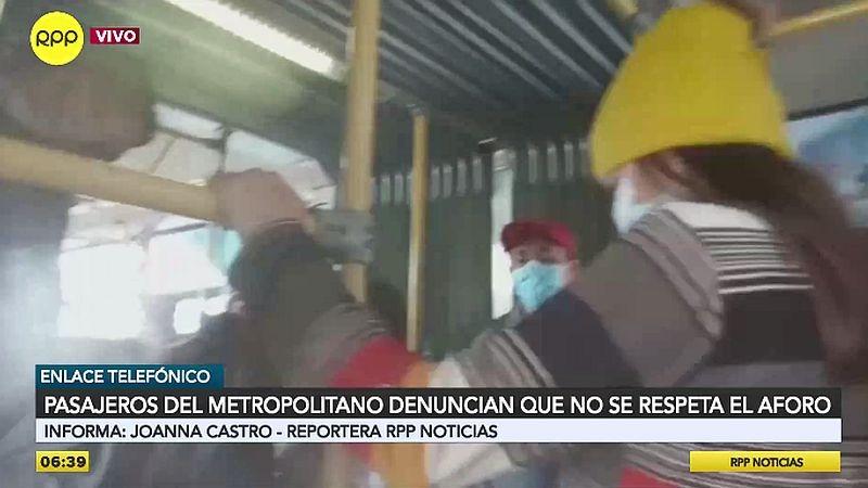 Así circulan los buses del Metropolitano.