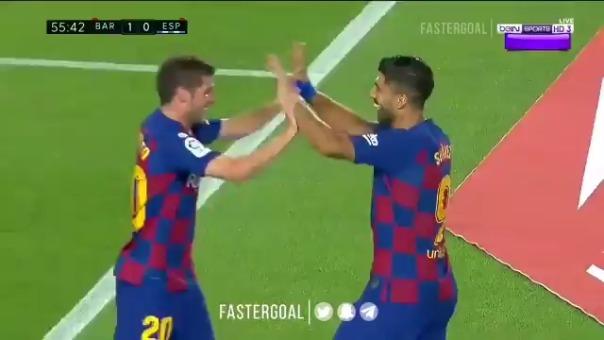 Luis Suárez marcó el gol de la victoria ante Espanyol