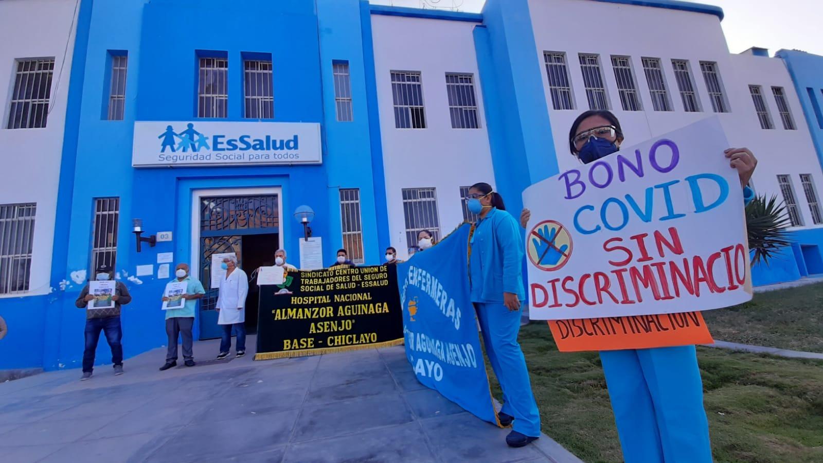 Trabajadores de EsSalud nuevamente levantaron su voz de protesta.