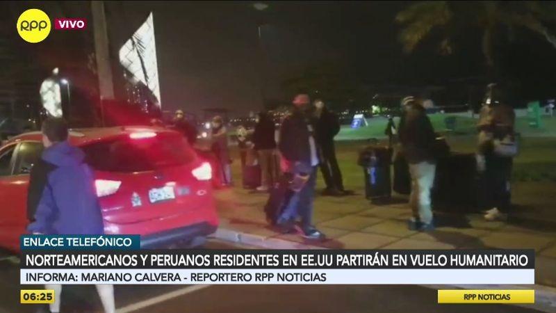 Entre los viajeros, también hay peruanos residentes en EE.UU. y España.