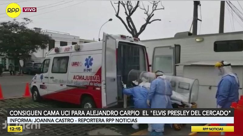 Alejandro Carpio Tello fue trasladado hoy al Hospital Dos de Mayo.