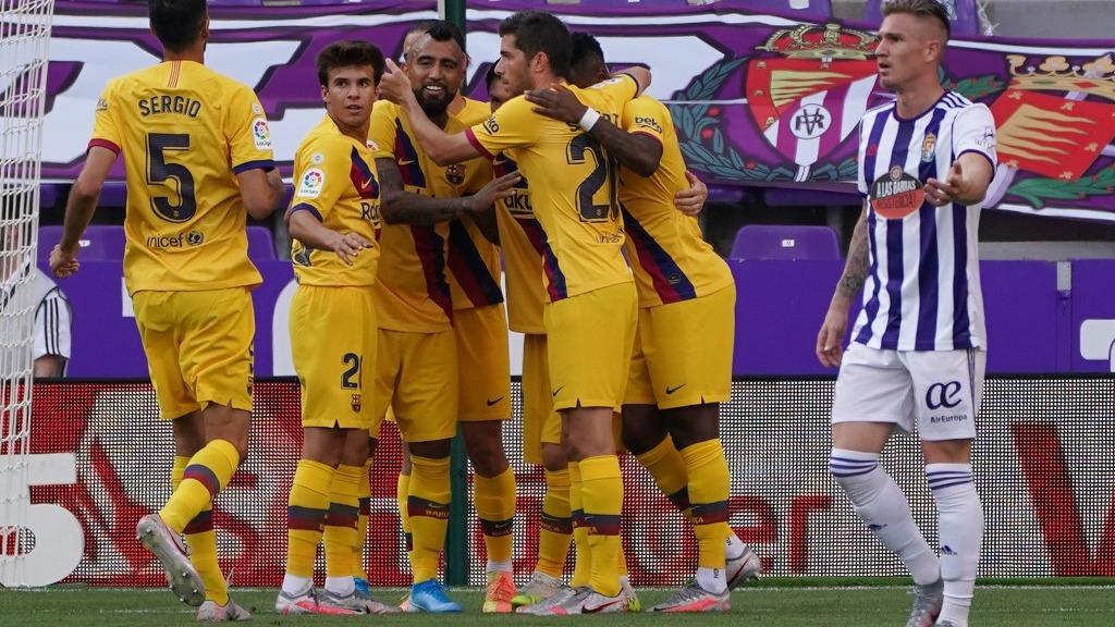 Gol de Arturo Vidal en la victoria del Barcelona ante Valladolid