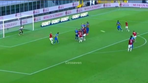 Tiro libre de Zlatan Ibrahimovic en el Milan vs. Parma