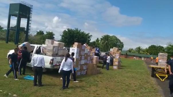 Ante la falta de personal, un total de siete médicos del Hospital Referencial COVID-19 de Ate-Vitarte de Lima, llegaron a Tarapoto para reforzar el equipo de salud.
