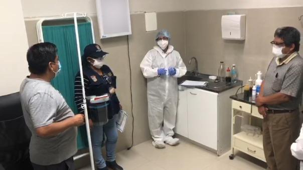 En la clínica, las personal edil y la Fiscalía comprobó que existía riesgo de contagio de la COVID-19.