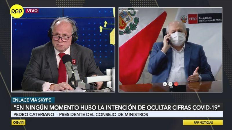 Pedro Cateriano estuvo esta mañana en Enfoque de los Sábados.