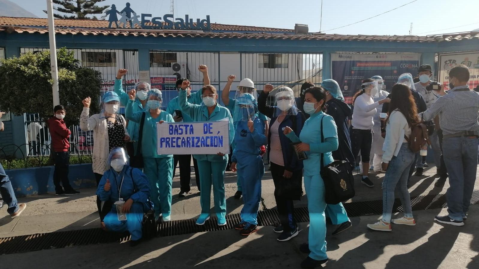 Los médicos entregaron el Hospital de EsSalud a la Fiscalía de Huánuco.