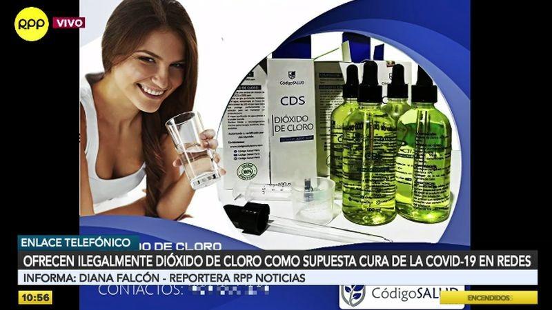 Los anuncios de venta de dióxido de cloro pululan en las redes sociales.